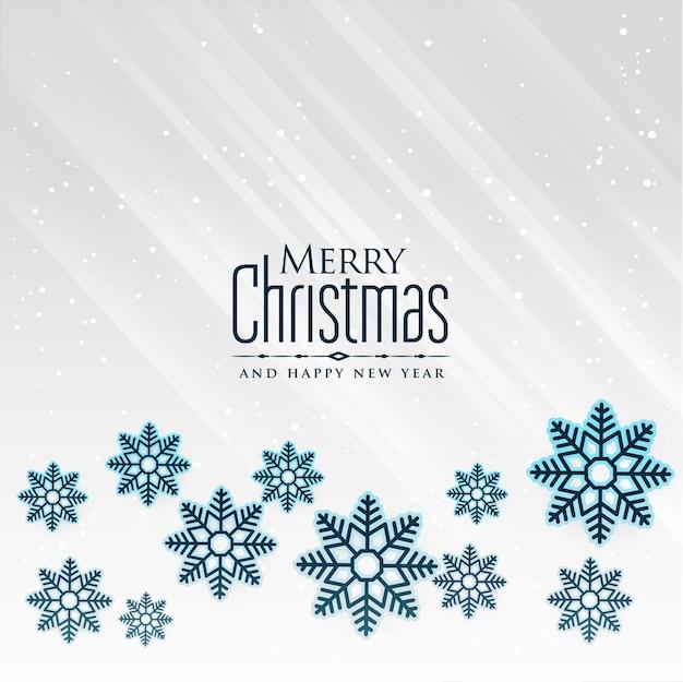 Fondo de copos de nieve de invierno para feliz navidad