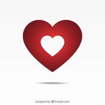 Fondo de corazón aislado y degradado