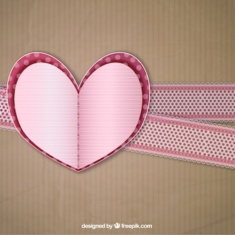 Fondo de corazón de artesanía