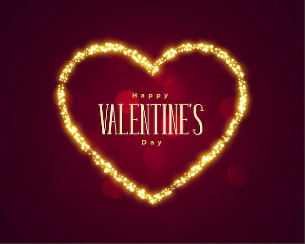 Fondo de corazón brillante hermoso día de san valentín