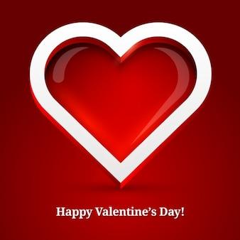 Fondo de corazón brillante de san valentin