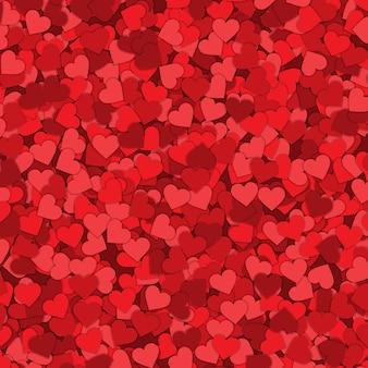 Fondo de corazón confeti día de san valentín