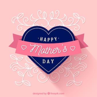 Fondo con un corazón para el día de la madre