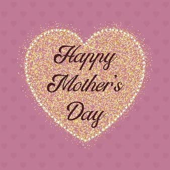 Fondo de corazón feliz día de la madre