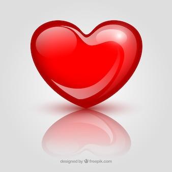 Fondo de corazón glossy
