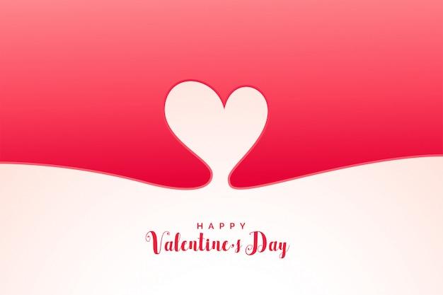 Fondo de corazón mínimo para el día de san valentín