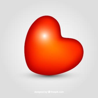 Fondo de corazón rojo brilloso