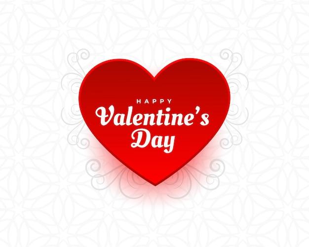 Fondo de corazón de san valentín con decoración