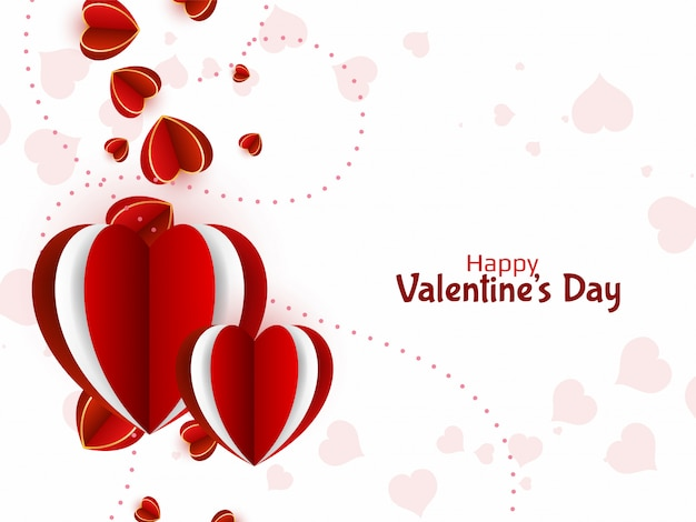 Fondo de corazones encantadores para el día de san valentín