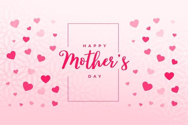 Fondo de corazones de feliz día de la madre