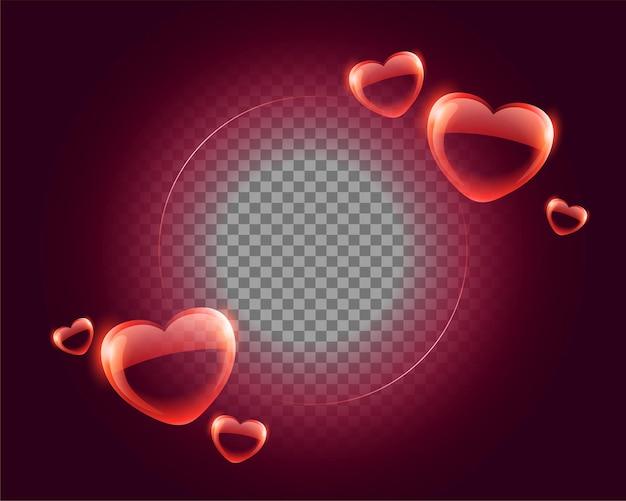 Fondo de corazones de feliz día de san valentín con espacio de imagen
