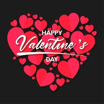 Fondo de corazones de feliz día de san valentín
