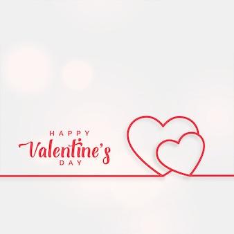 Fondo de corazones de línea para el día de san valentín