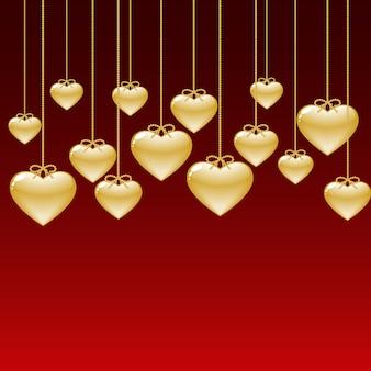 Fondo de corazones