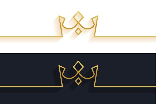 Fondo de corona de línea minimalista