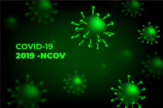 Fondo de coronavirus monocromático