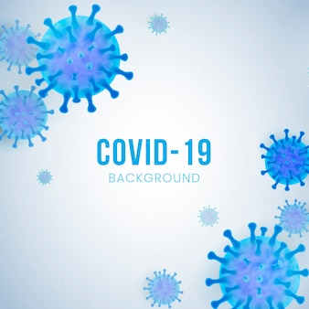 Fondo de coronavirus realista