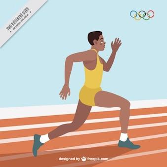 Fondo de corredor en los juegos olímpicos
