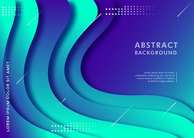 Fondo de corte de papel abstracto moderno