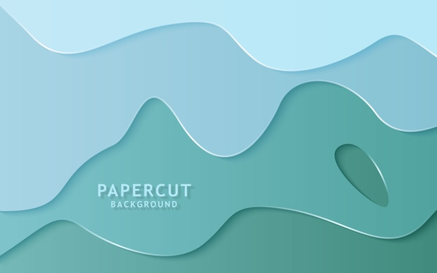 Fondo de corte de papel abstracto moderno.