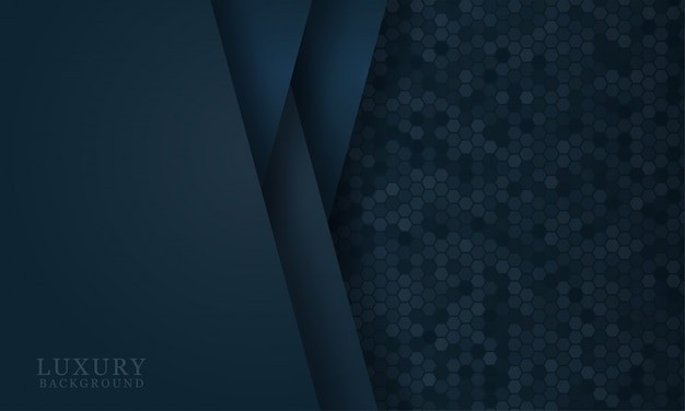 Fondo de corte de papel azul oscuro abstracto con formas simples. ilustración vectorial moderna para el diseño conceptual