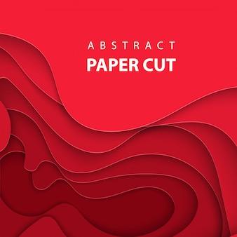 Fondo con corte de papel de color rojo intenso.