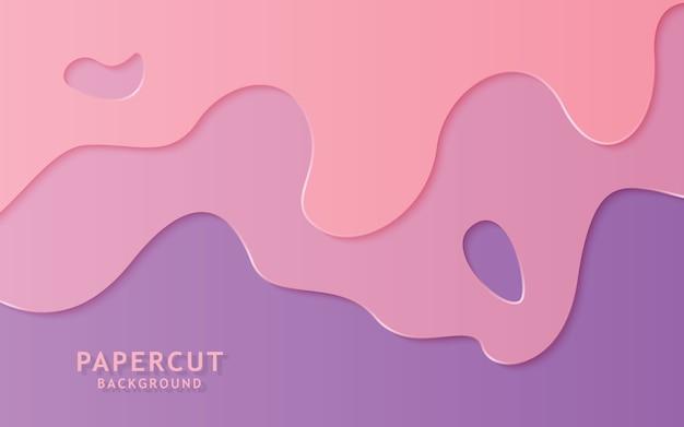 Fondo de corte de papel de color suave abstracto.