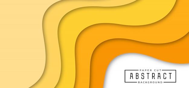 Fondo de corte de papel con estilo abstracto