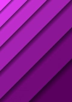Fondo de corte de papel con hojas de capas violetas abstractas 3d una sobre la otra en diagonal y sombras.