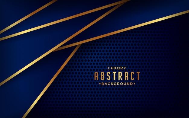 Fondo de corte de papel de lujo, patrón dorado, elemento de diseño gráfico.