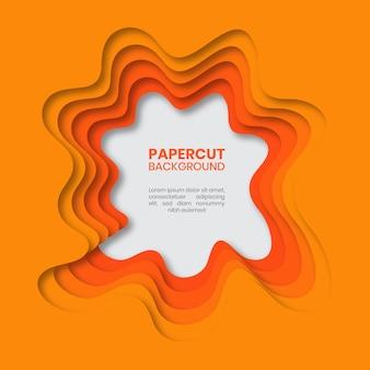 Fondo de corte de papel naranja abstracto