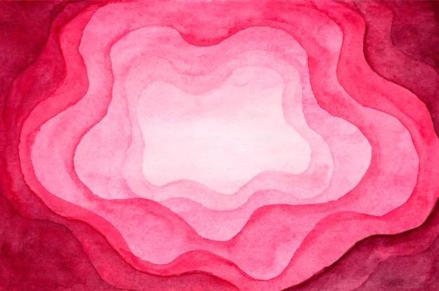 Fondo de corte de papel ondulado rosa acuarela abstracta