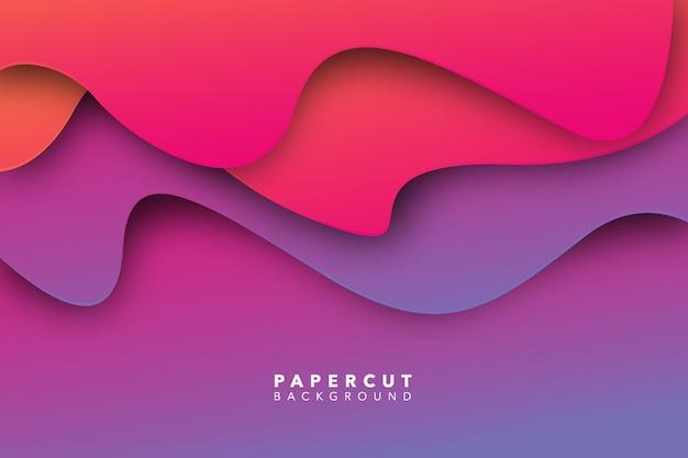 Fondo de corte de papel púrpura abstracto