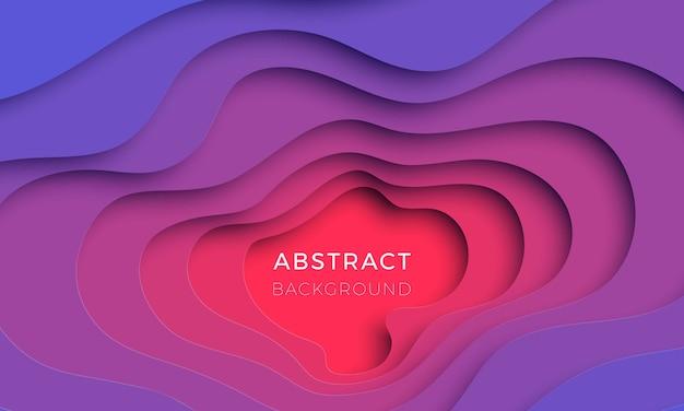 Fondo de corte de papel realista 3d. diseño de presentación, folleto, invitación, cartel, banner. fácil de editar y personalizar. eps10