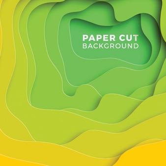 Fondo de corte de papel realista colorido multicapa