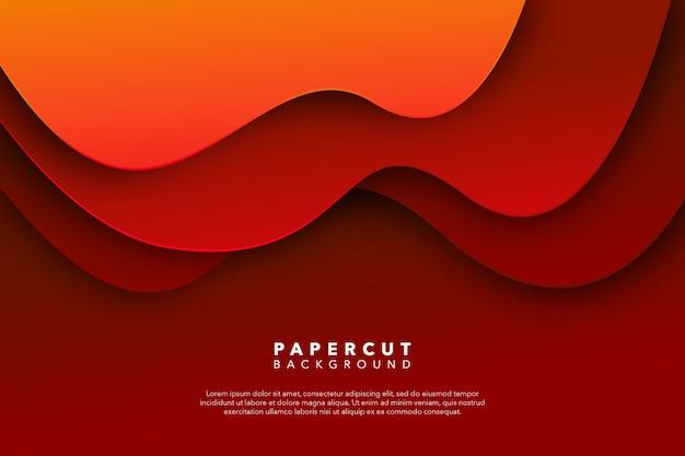 Fondo de corte de papel rojo abstracto
