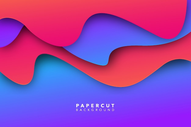 Fondo de corte de papel rosa púrpura abstracto