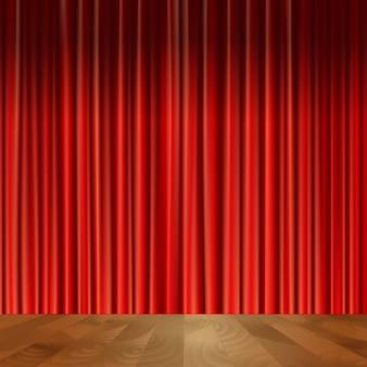 Fondo de cortinas de teatro