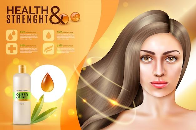 Fondo de cosméticos para el cabello