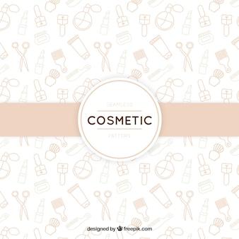 Fondo de cosméticos dibujados a mano