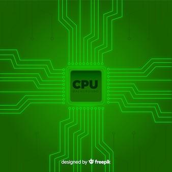 Fondo de cpu moderno en color verde