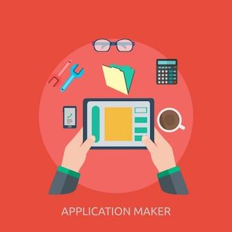 Fondo de creador de aplicaciones