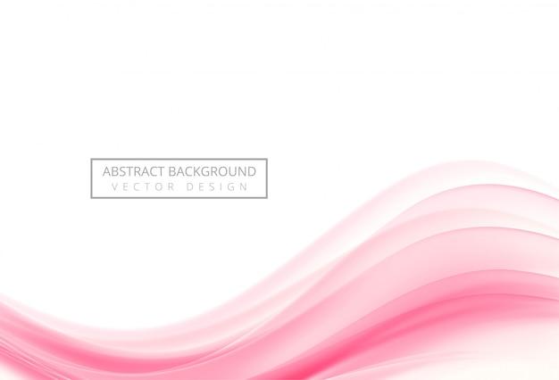 Fondo creativo abstracto onda rosa