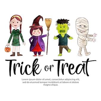 Fondo creativo de acuarela de halloween