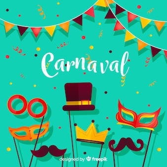 Fondo creativo de carnaval en estilo flat