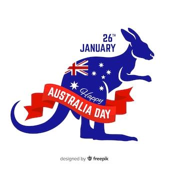 Fondo creativo del día de australia con canguro
