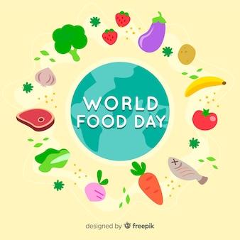 Fondo creativo del día internacional de la comida