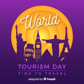 Fondo creativo del día mundial del turismo