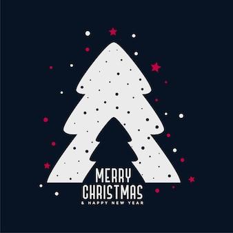 Fondo creativo del diseño del árbol de navidad