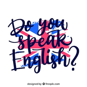 Fondo creativo de do you speak english